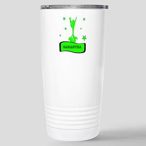 Green Cheerleader Travel Mug