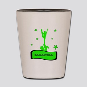 Green Cheerleader Shot Glass