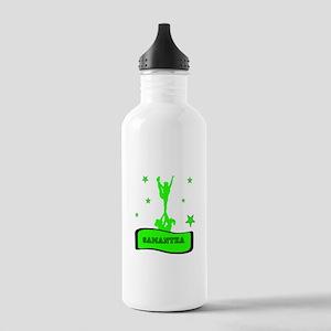 Green Cheerleader Water Bottle
