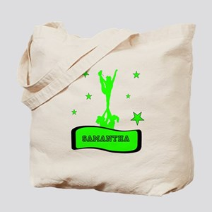 Green Cheerleader Tote Bag