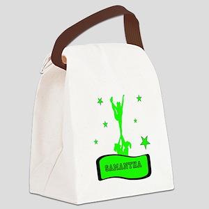 Green Cheerleader Canvas Lunch Bag