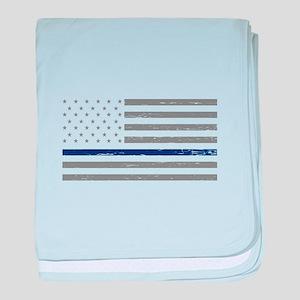 Thin Blue Line baby blanket