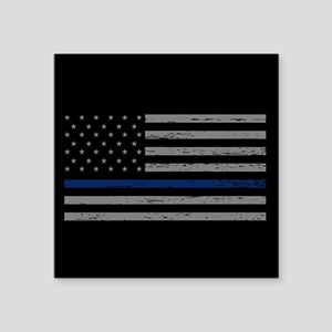 "Thin Blue Line Square Sticker 3"" x 3"""