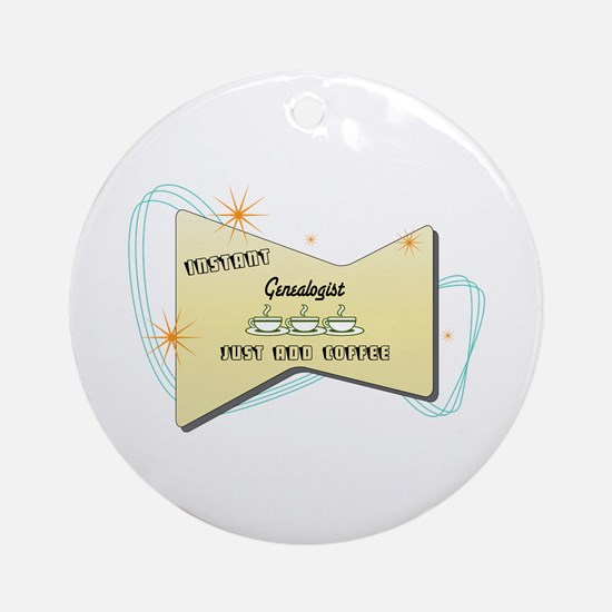 Instant Genealogist Ornament (Round)