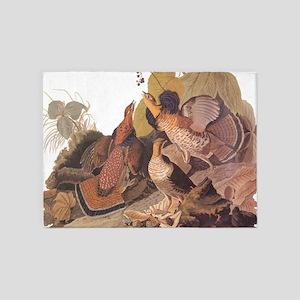 Ruffed Grouse Vintage Audubon Art 5'x7'Area Rug