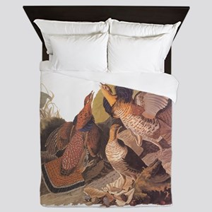 Ruffed Grouse Vintage Audubon Art Queen Duvet