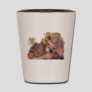 Ruffed Grouse Vintage Audubon Art Shot Glass