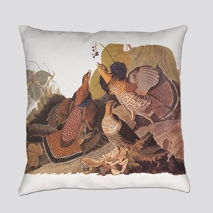 Ruffed Grouse Vintage Audubon Art Everyday Pillow