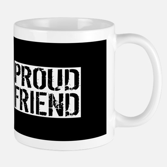 Firefighter: Proud Friend (Black Flag, Mug