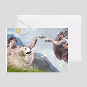 Creation / Gr Pyrenees Greeting Card
