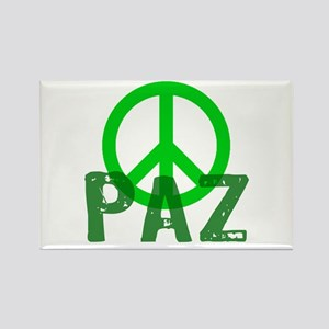 PAZ Peace en Espanol Rectangle Magnet