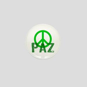 PAZ Peace en Espanol Mini Button