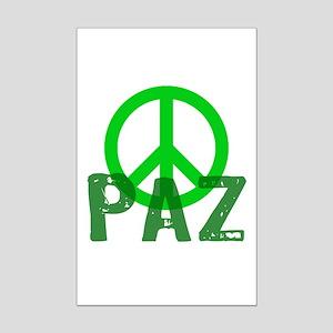 PAZ Peace en Espanol Mini Poster Print