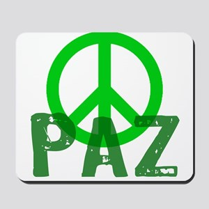 PAZ Peace en Espanol Mousepad