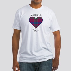 Heart-Corbett.Ross Fitted T-Shirt