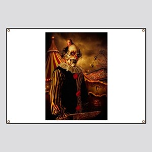 Scary Circus Clown Banner