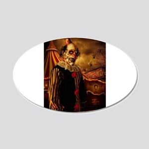 Scary Circus Clown Wall Decal