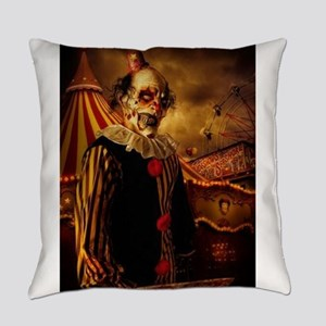 Scary Circus Clown Everyday Pillow