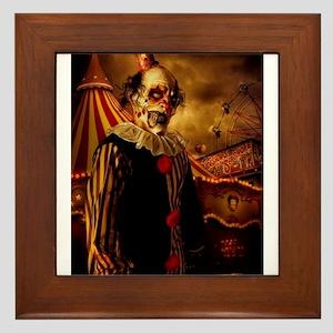 Scary Circus Clown Framed Tile