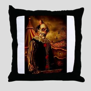 Scary Circus Clown Throw Pillow