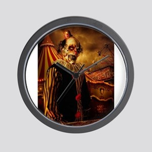 Scary Circus Clown Wall Clock
