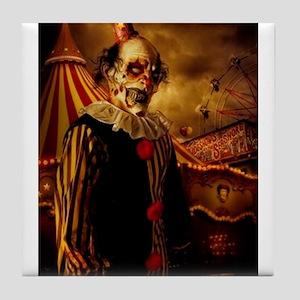 Scary Circus Clown Tile Coaster