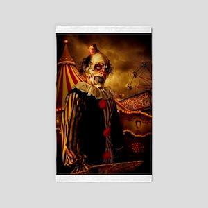Scary Circus Clown Area Rug