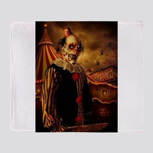 Scary Circus Clown Throw Blanket