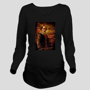Scary Circus Clown Long Sleeve Maternity T-Shirt