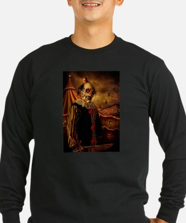 Scary Circus Clown Long Sleeve T-Shirt