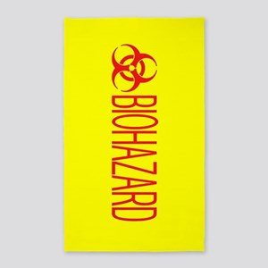 HAZMAT: Biohazard (Red & Yellow) Area Rug