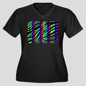 rainbow zebra Plus Size T-Shirt