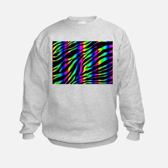 rainbow zebra Sweatshirt