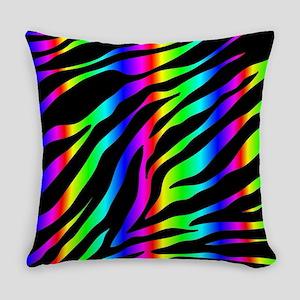 rainbow zebra Everyday Pillow