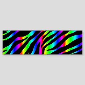 rainbow zebra Bumper Sticker