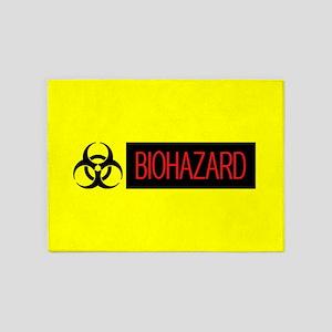 HAZMAT: Biohazard (Red, Black & Yel 5'x7'Area Rug