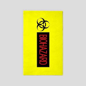 HAZMAT: Biohazard (Red, Black & Yellow) Area Rug