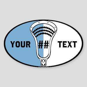 Lacrosse Oval CNU Custom Sticker (Oval)