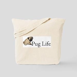 Puppy Pug Life Tote Bag