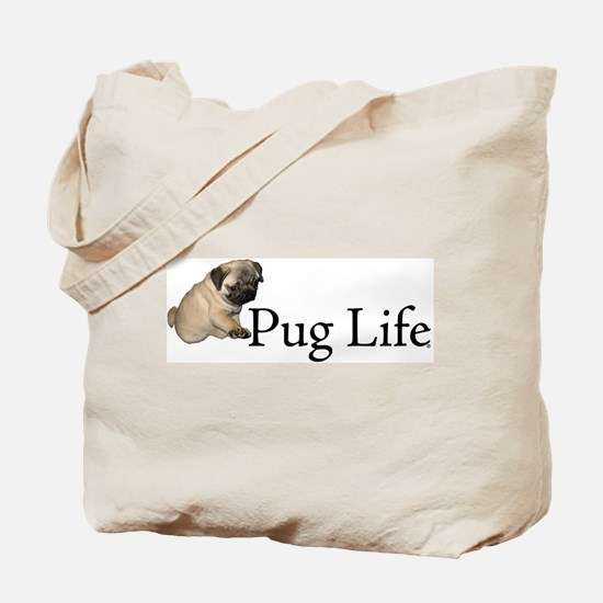 Puppy Pug Life Tote Bag