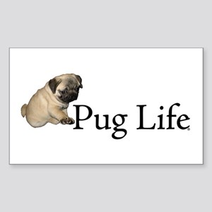 Puppy Pug Life Rectangle Sticker
