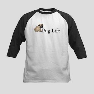Puppy Pug Life Kids Baseball Jersey