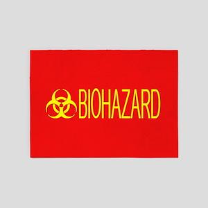 HAZMAT: Biohazard (Red & Yellow) 5'x7'Area Rug
