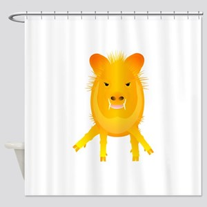Lina Ballerina Javelina Shower Curtain