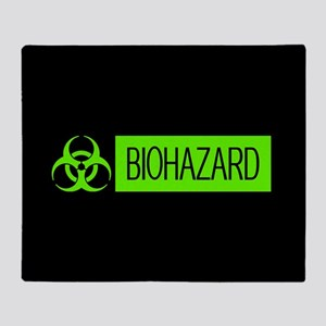 HAZMAT: Biohazard (Slime Green & Bla Throw Blanket