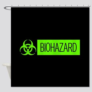 HAZMAT: Biohazard (Slime Green & Bl Shower Curtain