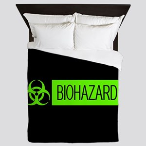 HAZMAT: Biohazard (Slime Green & Black Queen Duvet