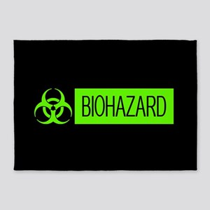 HAZMAT: Biohazard (Slime Green & Bl 5'x7'Area Rug