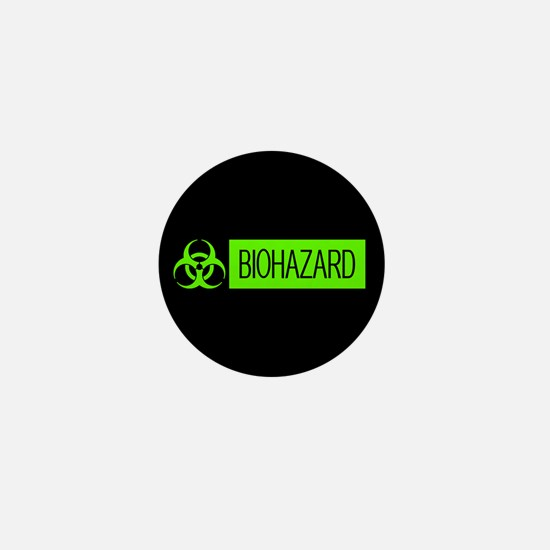 HAZMAT: Biohazard (Slime Green & Black Mini Button