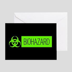 HAZMAT: Biohazard (Slime Green & Bla Greeting Card